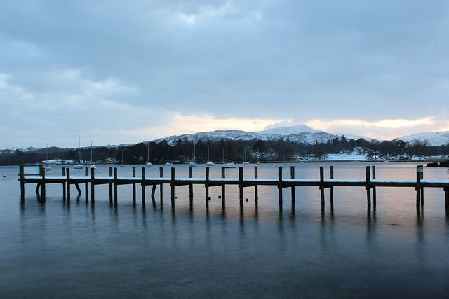 Lake District in the snow