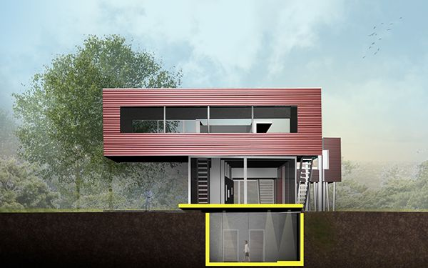 Library Addition to Rem Koohaas' Villa Dall'Ava on Behance