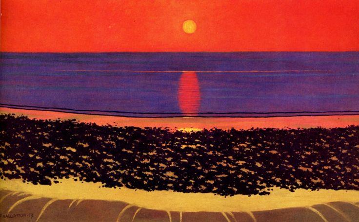 To lay down sun with Villerville Felix Vallotton , 1917