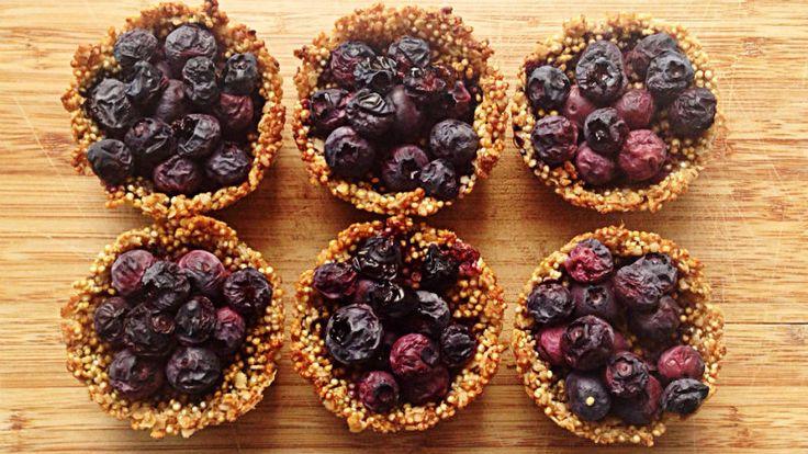 Quinoa-havermout cupcakes met blauwe bessen