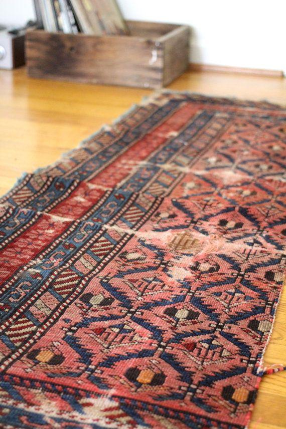 . . RESERVED vintage Turkish kilim rug runner by WildPoppyGoods . .