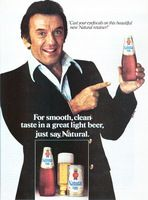 Natural Light Beer, Norm Crosby 1979 Ad Picture