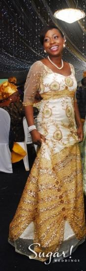 Gorgeous ! Nigerian Bride, MyQ, Self-Designed Wedding Dress