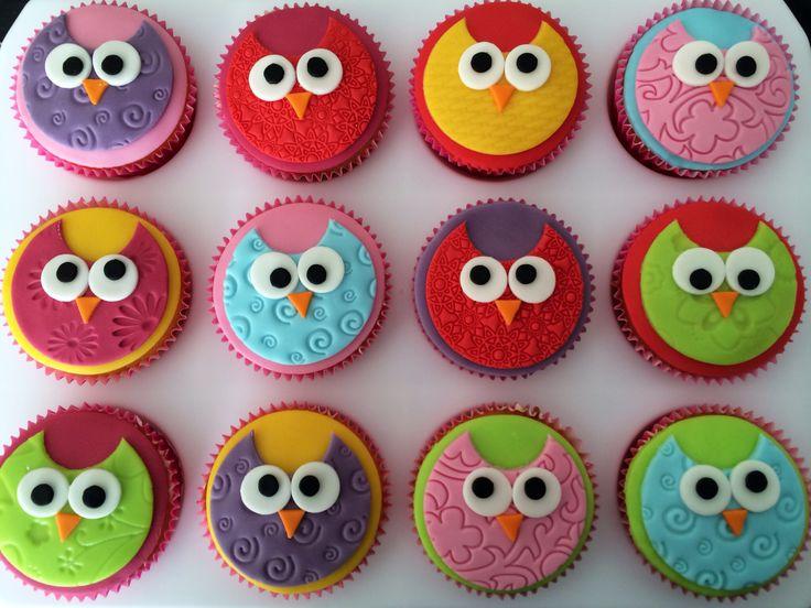 Owl cupcakes / uilen cupcakes