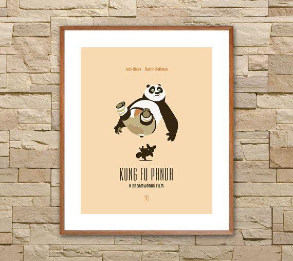 KUNG FU PANDA : Affiches de film minimalistes. par SITMArtPrints
