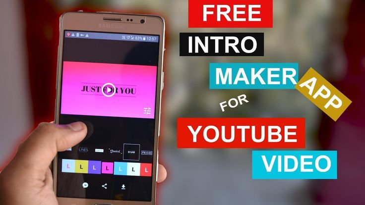 How To Make A Intro For Youtube Videos On Android Phone Youtube Channel Ideas Youtube Hacks Youtube Marketing
