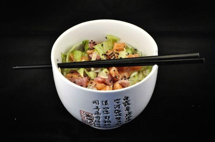 Bijgerecht: Sashimi salade met sesamdressing