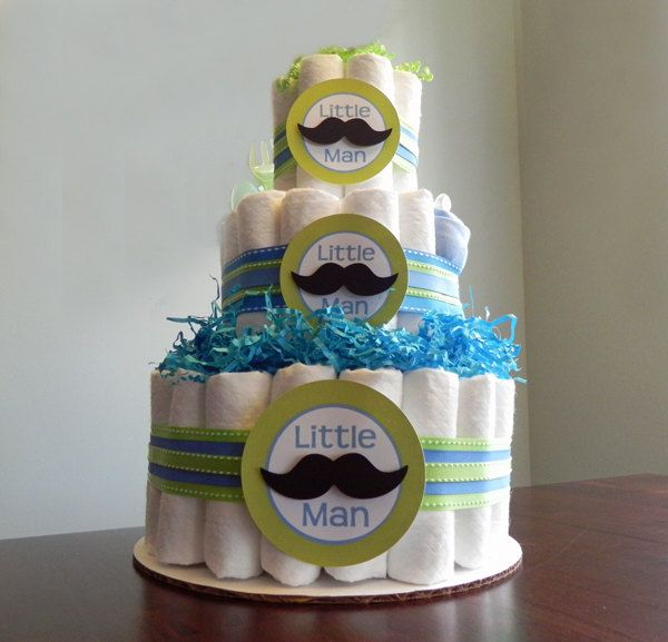 baby shower centerpieces man mustaches diaper cakes baby shower