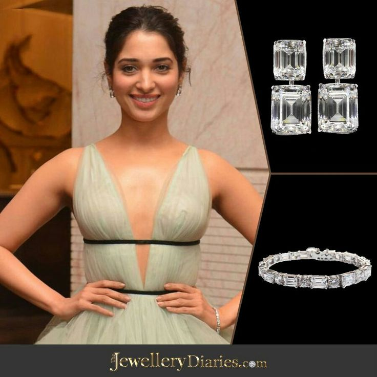 #TamannaahBhatia #TheDiamondGallery #KanikaKedia #DiamondEarrings #DiamondBracelets