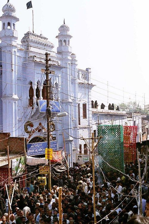 From Wikiwand: Muharram procession in Lucknow, India, Jan 2007.