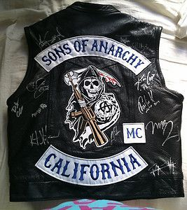 Sons of Anarchy Cast Signed Leather Motorcycle Vest | eBay