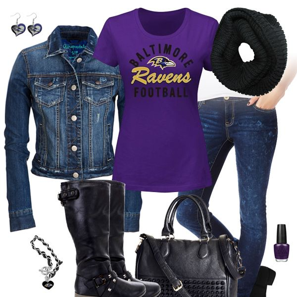 Baltimore Ravens Jean Jacket Outfit