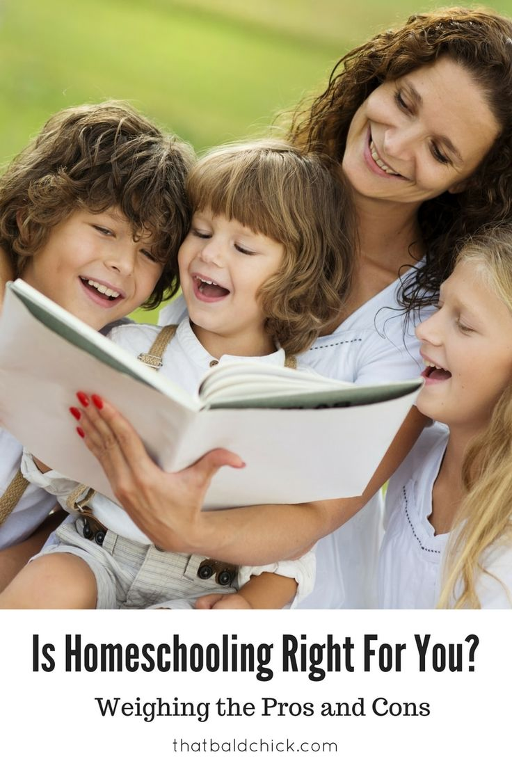 Is Homeschooling Right for You - Weighing the pros and cons of homeschooling at thatbaldchick.com via @thatbaldchick