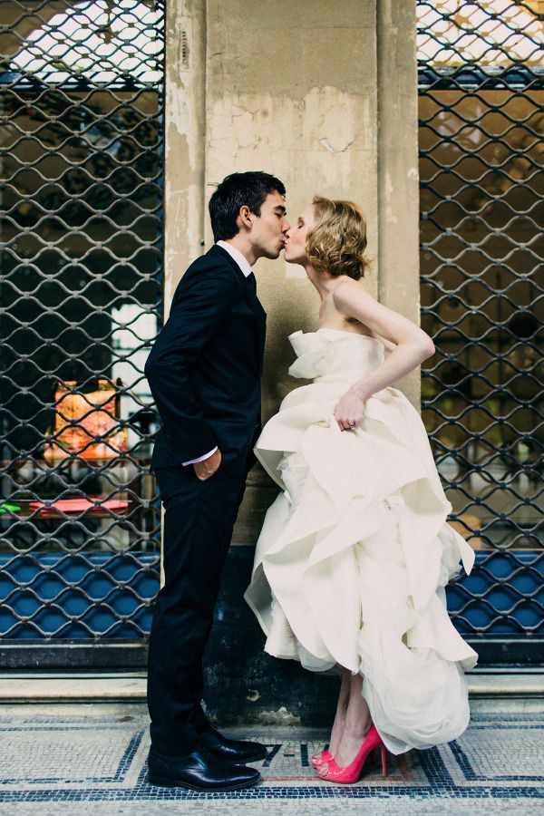Industrial surroundings softened by a kiss by @talanicole