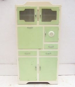 RETRO VINTAGE 1950s KITCHEN CABINET WITH THERMOMETER 1960s