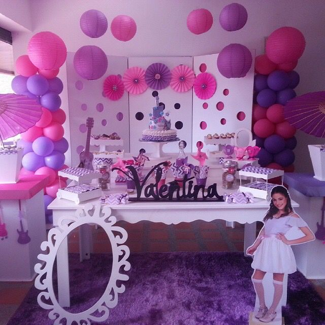 Beautiful Disney Violetta Birthday Party | Louise's 7th ...