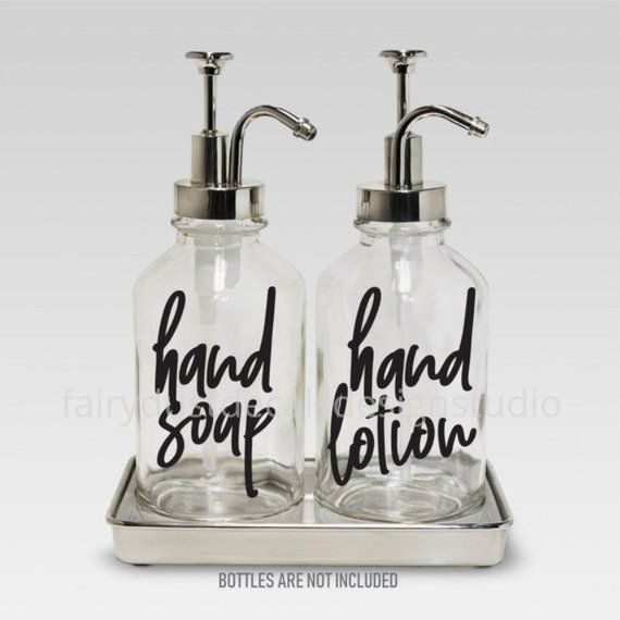 6ccd0b178716 Hand Soap and Hand Lotion dispenser bottle decals, set of 2 labels ...