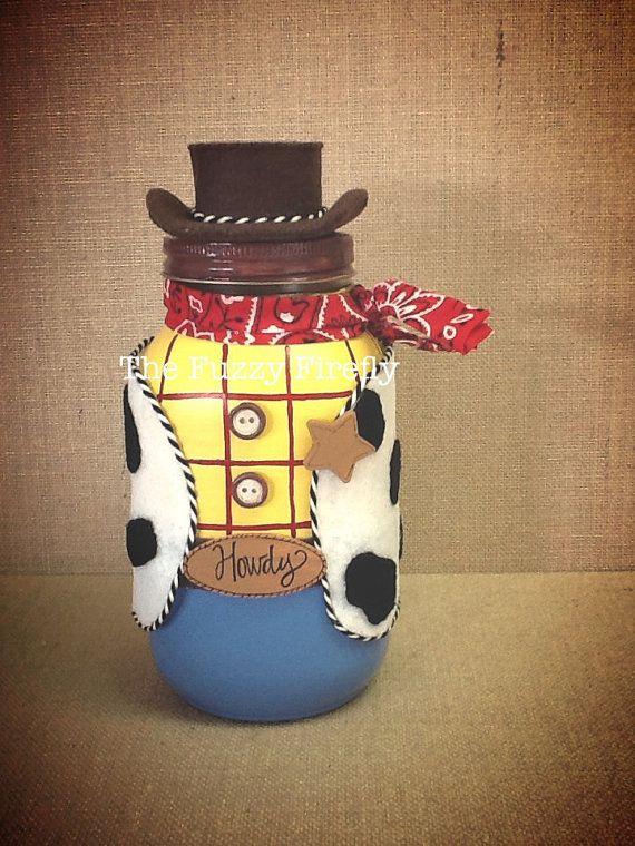 Handmade Woody from Toy Story Inspired Mason by TheFuzzyFirefly