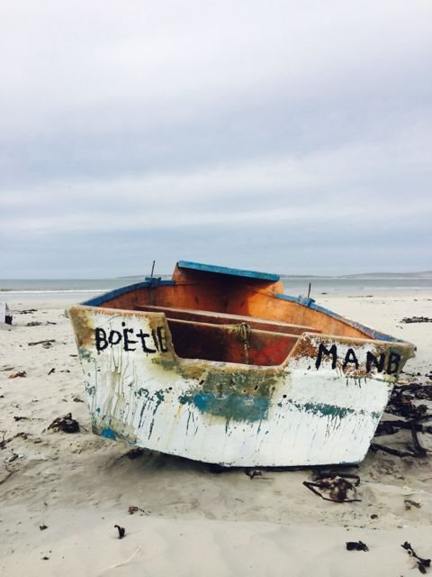 Paternoster beach, fishing boat