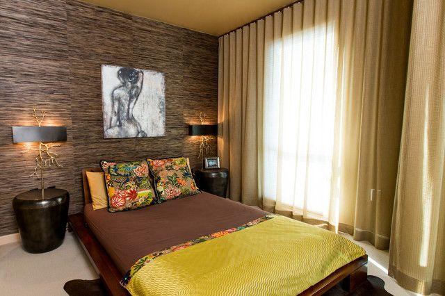 Спальня холостяка в азиатском стиле