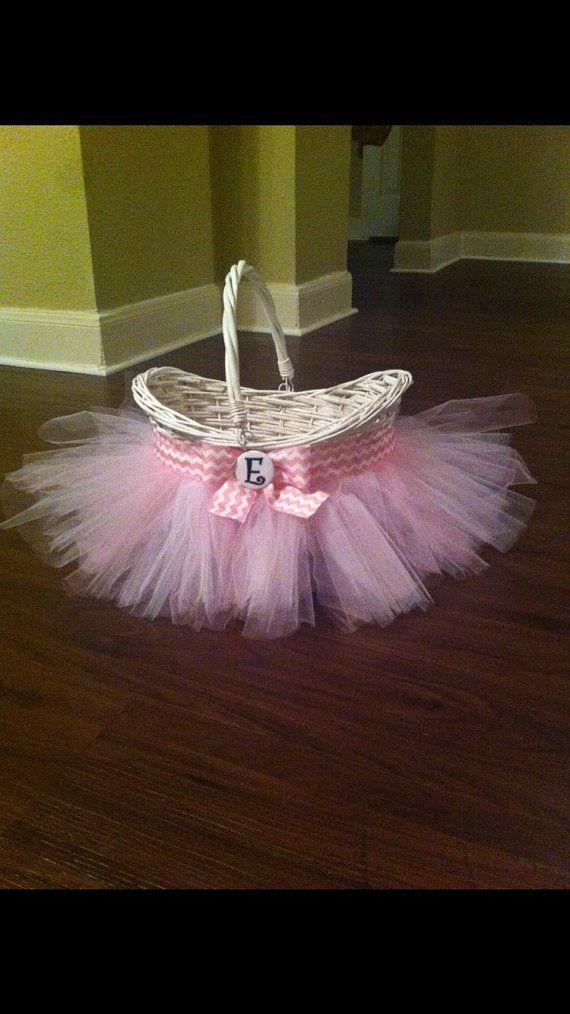 Tutu Easter Basket Wicker MaterialChoose your by LeFleurCreations