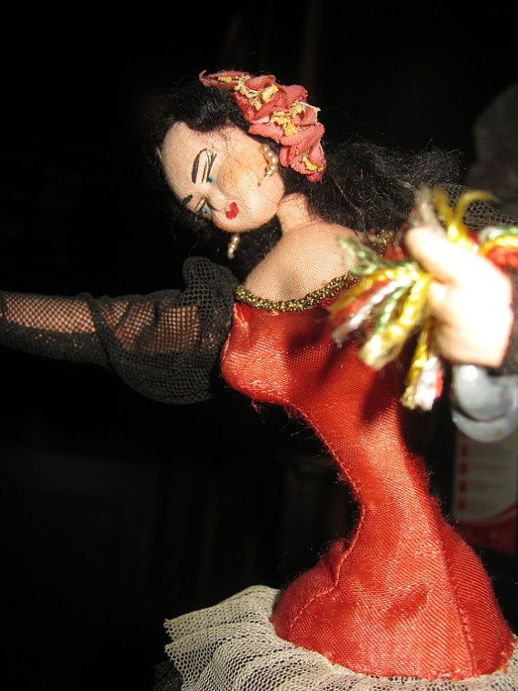 Klumpe Layna Spanish Dancer by Jenzart on Etsy, $49.00