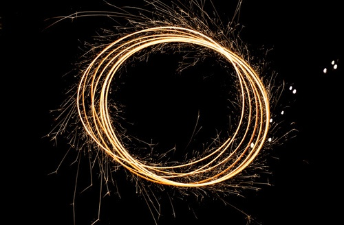 by Ann-Kristina Al-Zalimi, sparkler, hurray, joy, fireworks, circle, tuli, ympyrä, kuvio