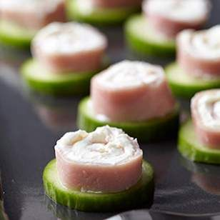 Ready in just 5 minutes, this cute ham-and-cheese appetizer or snack is as much fun to make as it is to eat.