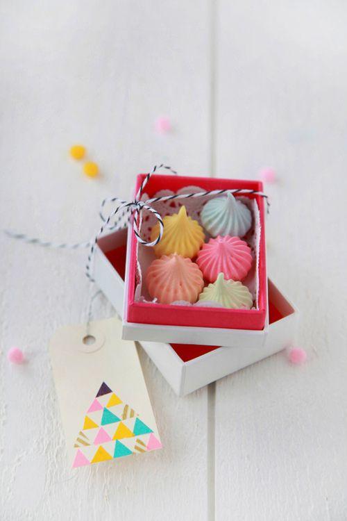 colorful meringue favors via decor8