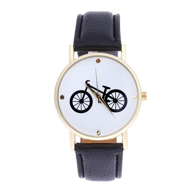 Fashion Casual Unisex Bike Watches 2017 Vintage Wristwatches PU-Leather Bicycle Pattern Quartz Watch Unisex Women Men relogio