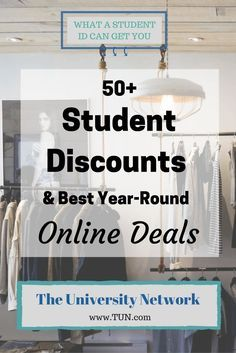 Student discounts are everywhere, but they aren't always advertised.  Make sure to always bring your student ID with you, and make sure to always ASK!