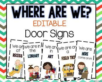 51 best student tracker tips images on pinterest back to school editable door signs pronofoot35fo Gallery