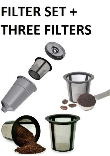 Reusable K Cup Filter My K Cup Filter Housing + 3 EXTRA FILTERS! - http://www.teacoffeestore.com/reusable-k-cup-filter-my-k-cup-filter-housing-3-extra-filters/
