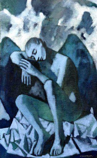 Casorati, Felice (1883-1963) - 1952 Angel of the Night (Christie's Milan, 2005)