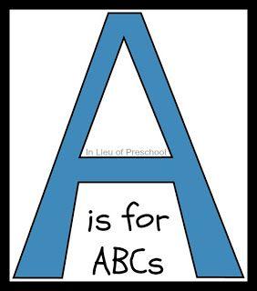 The ABCs of How to Home Preschool: A-E - In Lieu of Preschool