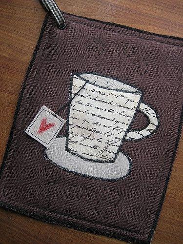 Tea themed potholder | by memmu