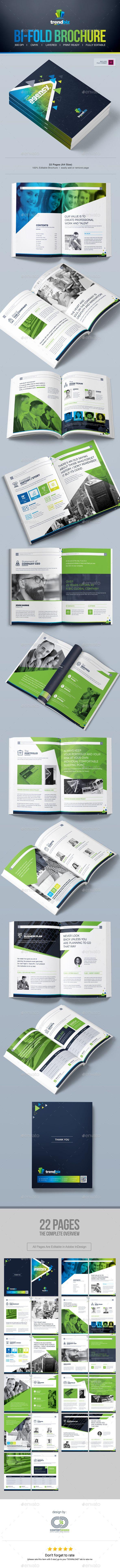 Brochure Design   Bi-Fold Brochure   Brochure Template InDesign INDD