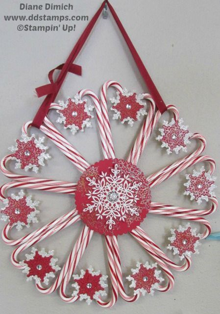 Using Stampin' Up! Festive Flurries stamp set and matching framelits makes crafting easy!