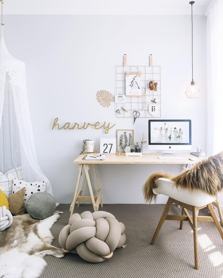 This darling home office retreat is #goals   Daily Dream Decor   Bloglovin'