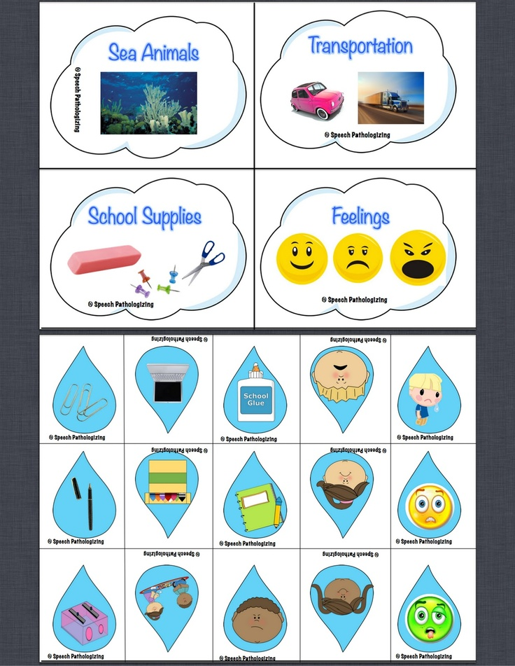 April Shower Categories - with FREEBIE from Speech Language Pathologizing
