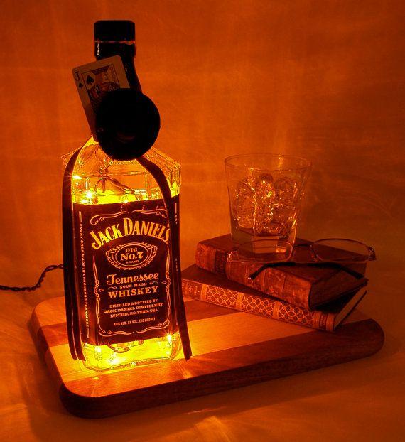 Jack Daniel's Light Up Liquor Bottle  by FlameKissedCreations