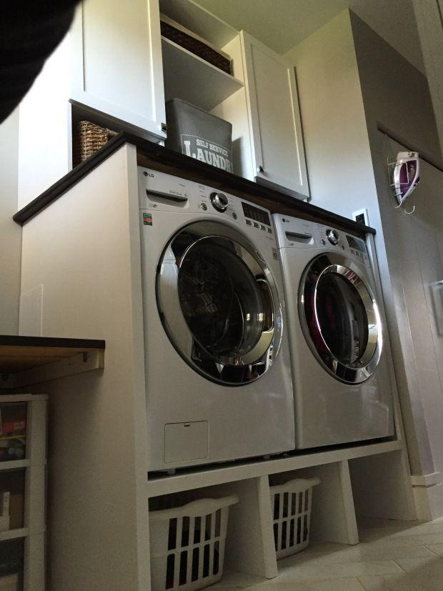 Washer And Dryer Pedestal Surround Tutorial Rangement Buanderie Amenagement Maison Et Buanderie