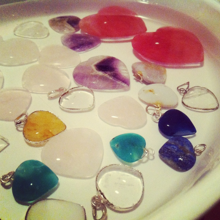 Crystal hearts. <3 <3<3 They are so amazing. $7-25. tlove.ca