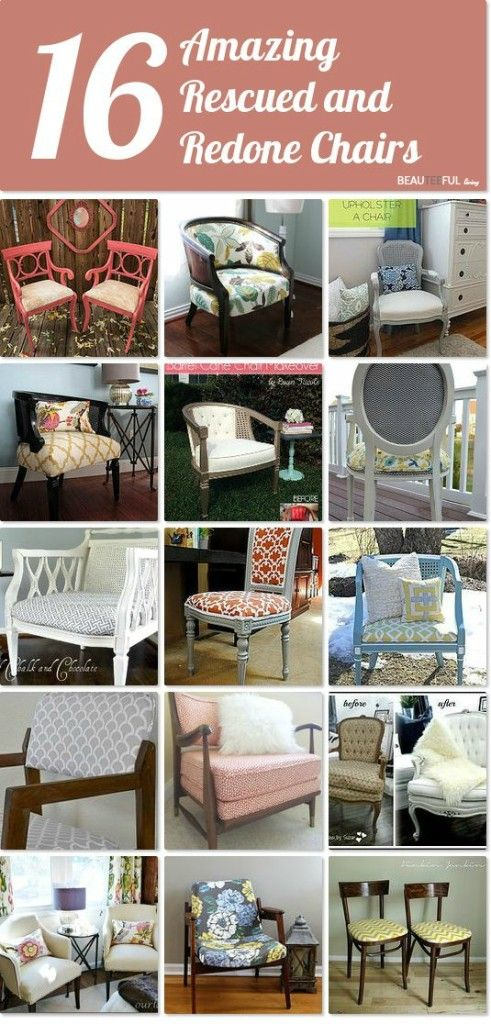 Upcycled Chairs - Hometalk Curated Board / Beauteefulliving.com