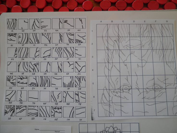 Teaching Art: Grid Drawing- I have done the upside down grid drawing with students before, but I am loving the idea of mixing up the grid pieces for the older ones.