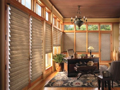 Hunter Douglas Vignette® Shades are a modern take on the traditional Roman Shade.
