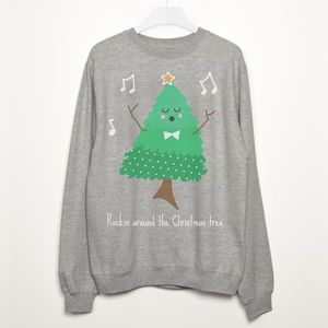 Rockin Around The Christmas Tree Sweatshirt. Shop Christmas Jumpers now.