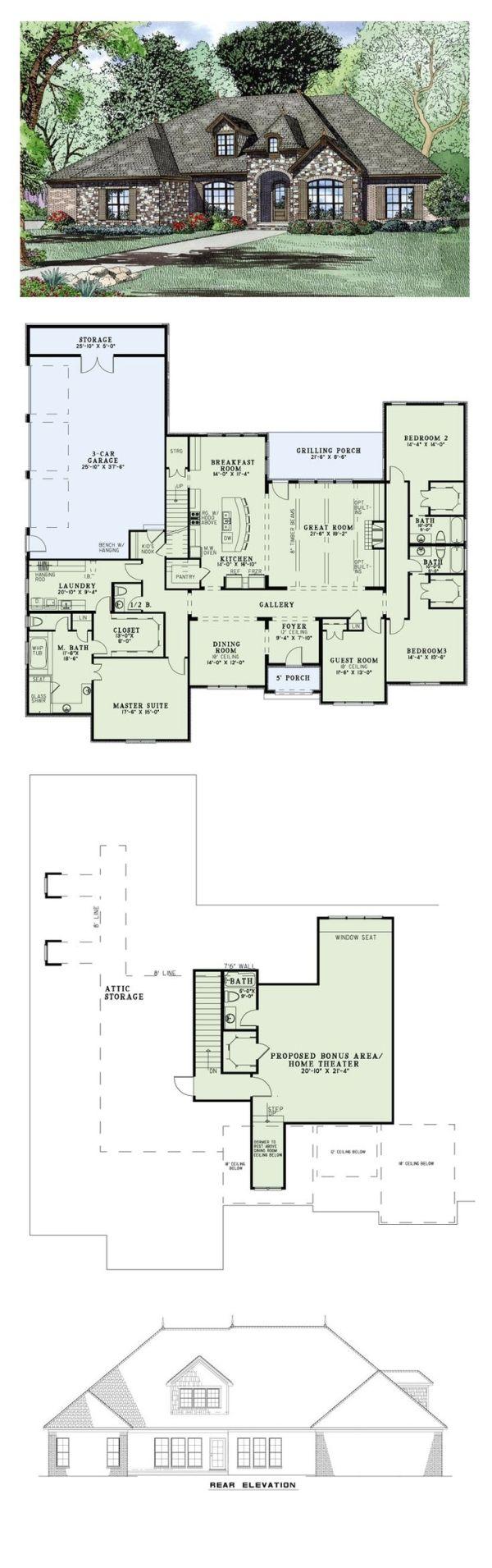 European House Plan 82163 Total Living