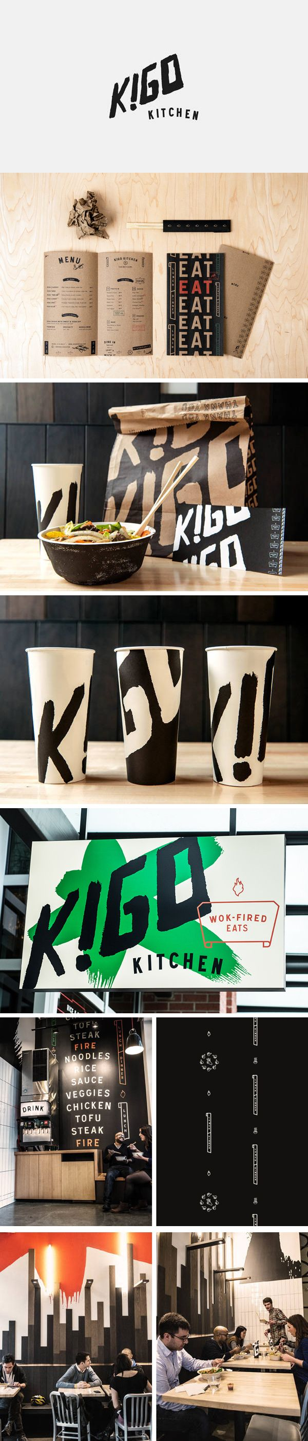 Kigo Kitchen, quick-fire lunch and dinner joint, design by Creature Design Like the to-go stuff!