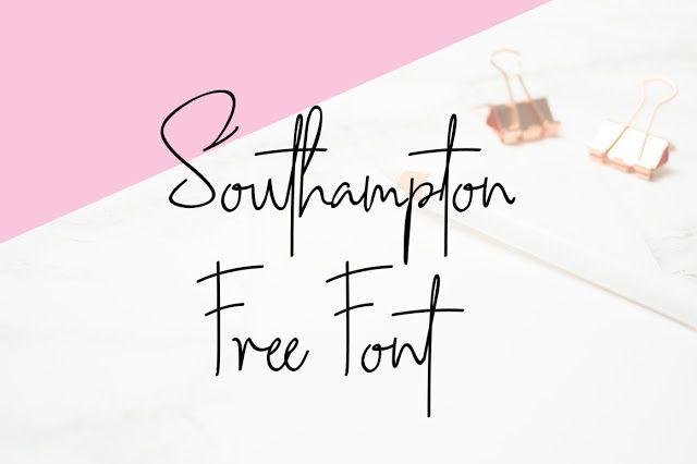 DLOLLEYS HELP: Southampton Free Font